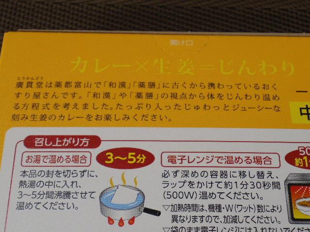 おくすりやさんの生姜カレー2