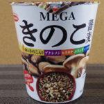 【カップ麺】エースコックの「MEGAきのこ蕎麦」を食べてみたのでレビュー!