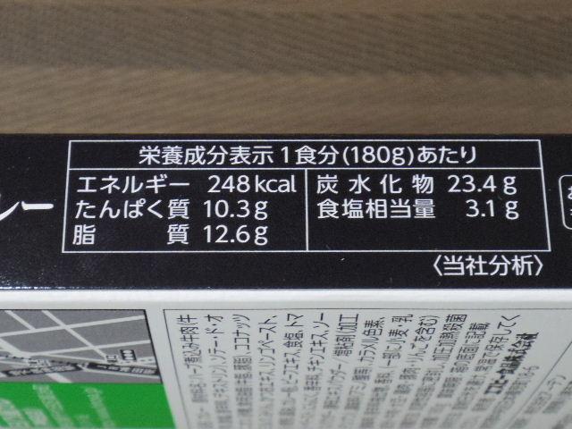 神田カレーグランプリ日乃屋 成分表